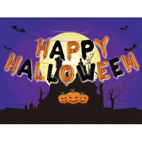 Ballonggirlang Happy Halloween 40cm