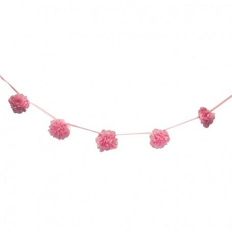 Pompom girlang rosa 3M