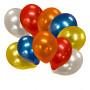 Metallic ballonger 10-p metallisk festsballonger  latex ballonger