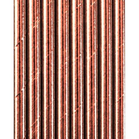 Papper sugrör roséguld 25 pack
