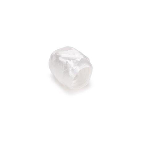 Ballongsnöre- Vit metallisk