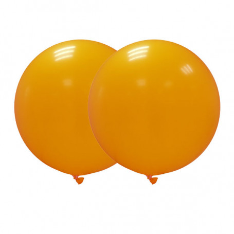 Jätteballonger orange 90 cm -2P