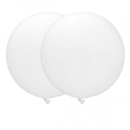 Jätteballonger 90 cm vita