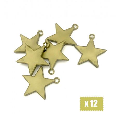 Ballongvikter stjärnor guld -12P