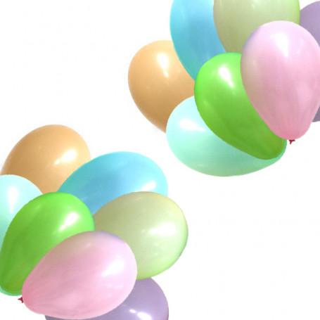Ballonger blandade färger