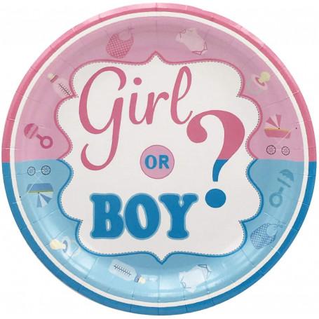 Girl or boy? Babyshower tallrikar