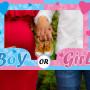Girl or boy? Babyshower enorm fotoram