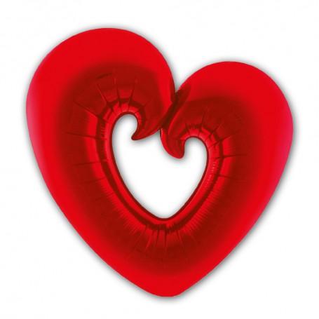 Folieballong Rött Hjärta