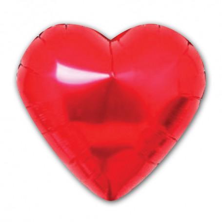 Hjärtformad folieballong Röd