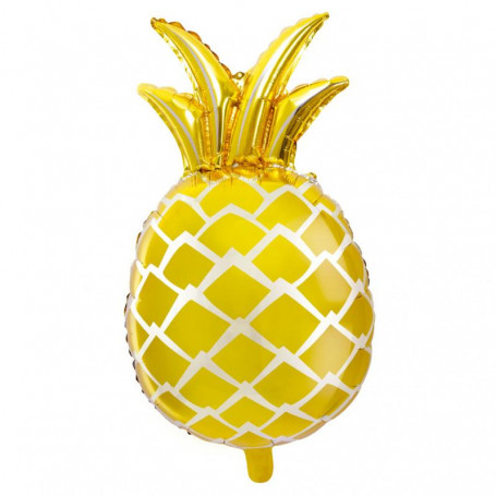 Ananas folieballong guld XL