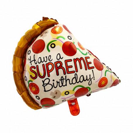 Birthday pizza folieballong