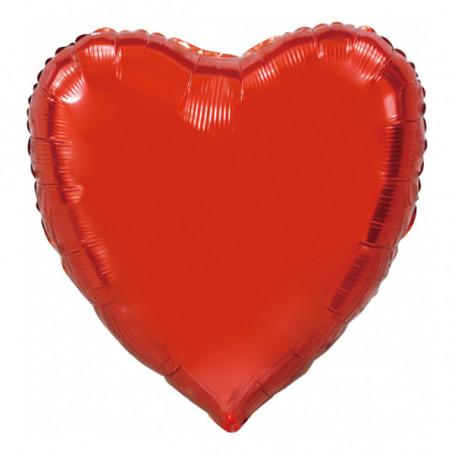 Hjärta röd folieballong XL