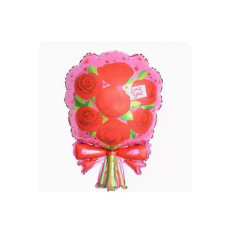 Rosbukett  folieballong