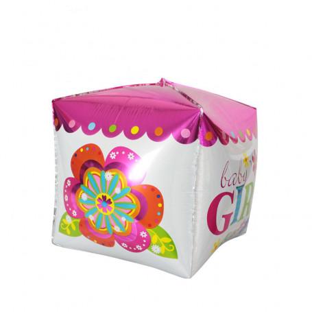 Baby girl fyrkantig folieballong