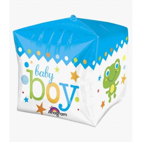 Baby boy fyrkantig folieballong