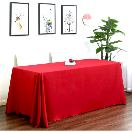 Bordsduk röd återanvändbar