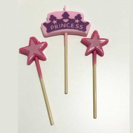 Prinsessljus med stjärnor