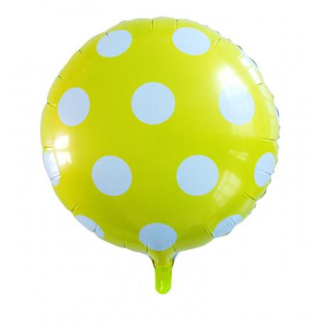 Folieballong prickig gula och vita