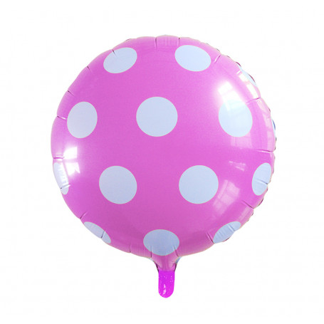 Folieballong prickig rosa och vita