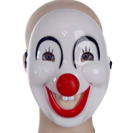 Clownmask halloween leende och glad