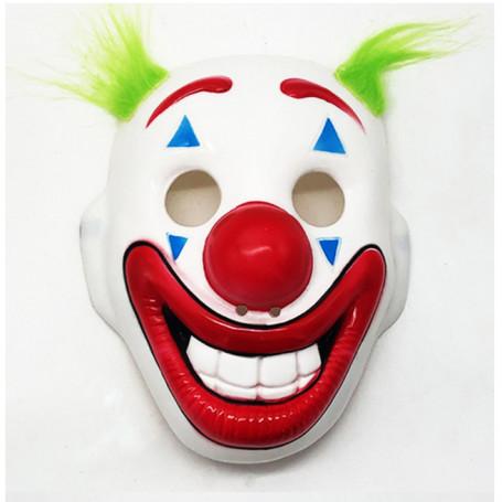 Clownmask med grönt hår