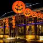 Halloween pumpa hängande papper lykta