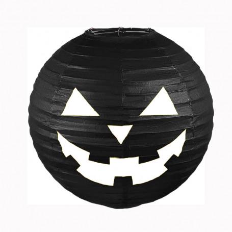 Halloween pumpa hängande papper lykta svart