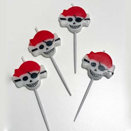Tårtljus Pirater och Dödskallar