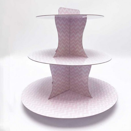 Rosa cup cake ställ
