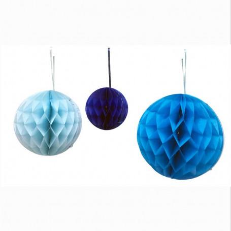 Dekorationsbollar Blå 3-p