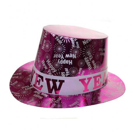 Nyårshatt i rosa med texten Happy New Year