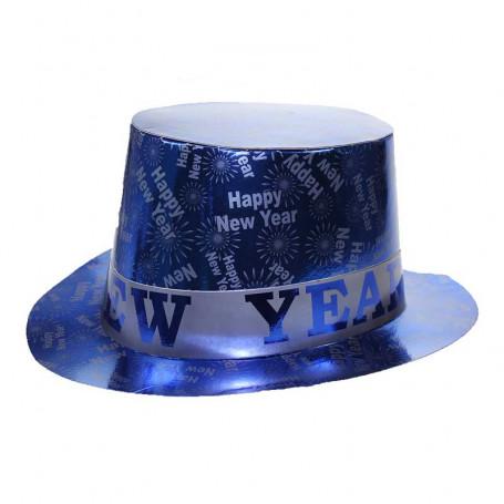 tophat i blått med texten Happy New Year