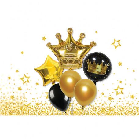 Trevligt ballongkit med Krona,stjärna och runda ballonger