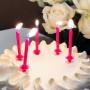 Tårtljus Glitter Rosa med hållare