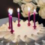 Tårtljus Glitter Lila med hållare