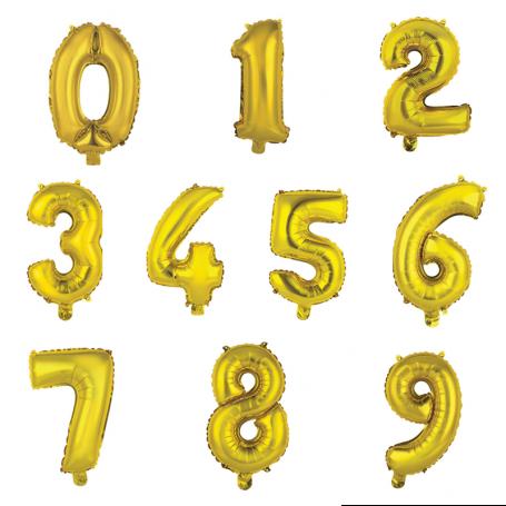 Sifferballonger guld helium födelsedag fest student folieballonger