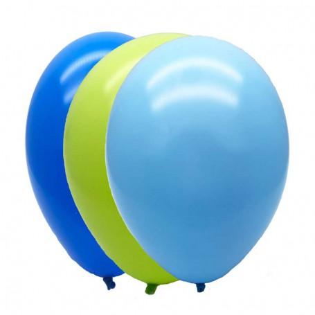 Ballonger mixade blå och gröna 15-p
