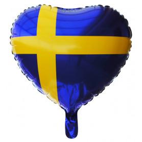 Svenska Flaggan i form av ett hjärta