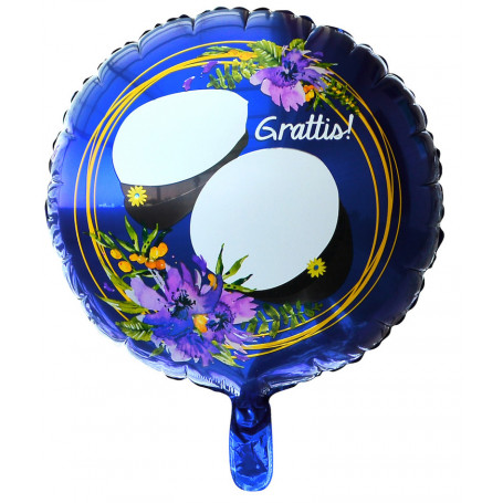 "Studentballong med texten ""Grattis"""