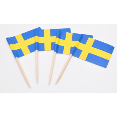 Tårtdekoration Svenska Flaggor 20-p