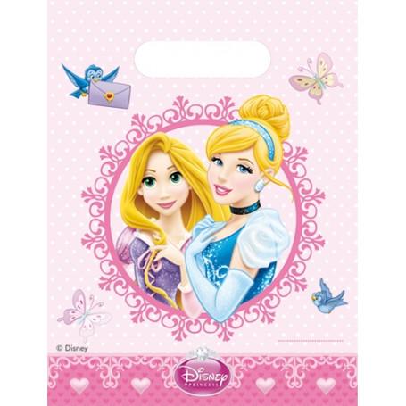 Rosa Godispåse med Askungen och Rapunzel