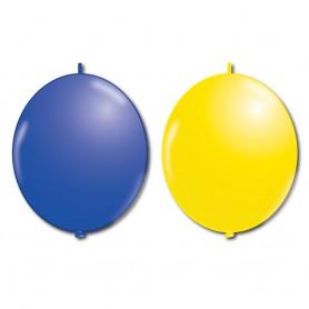 Ballonger för studenten och sommarfesten blå & gula att göra en girland med