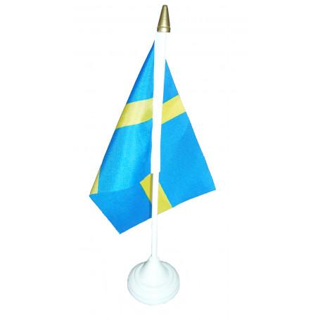 Svenska flaggan på fot