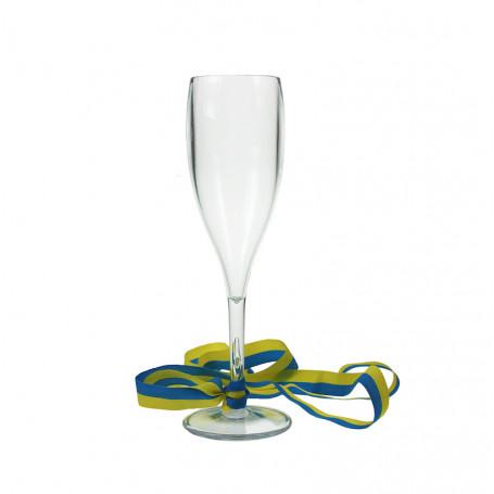Champagneglas band till studenten studentmaskot examensmaskot student pynt plast