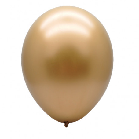 Guldballong mot vit bakgrund