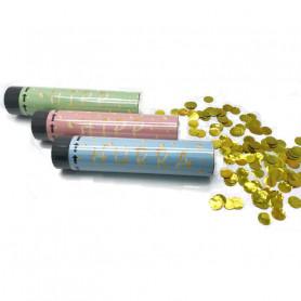 3-p konfettibomb 20cm med guldkonfetti