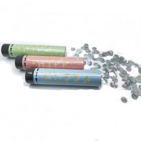 3-p konfettibomb 20cm med silverkonfetti