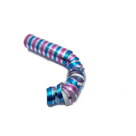 Serpentin laser rosa-blå-silver 1-p