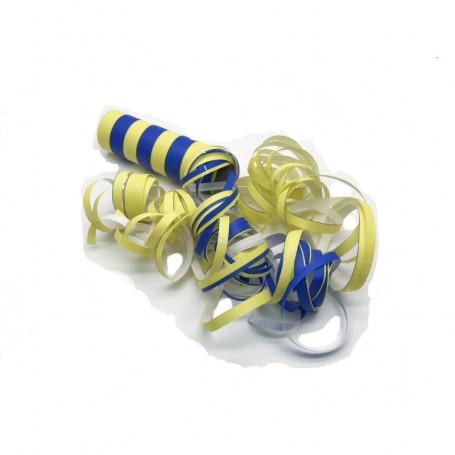 Serpentin Blå/gul 1-p
