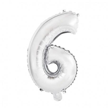 Sifferballonger nr. 6, 35 cm